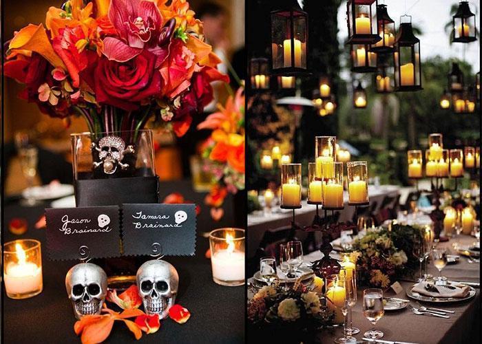 Vẻ đẹp ma mị khi tổ chức đám cưới theo chủ đề Halloween huyền bí